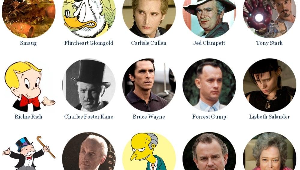Los 15 personajes de ficción más ricos