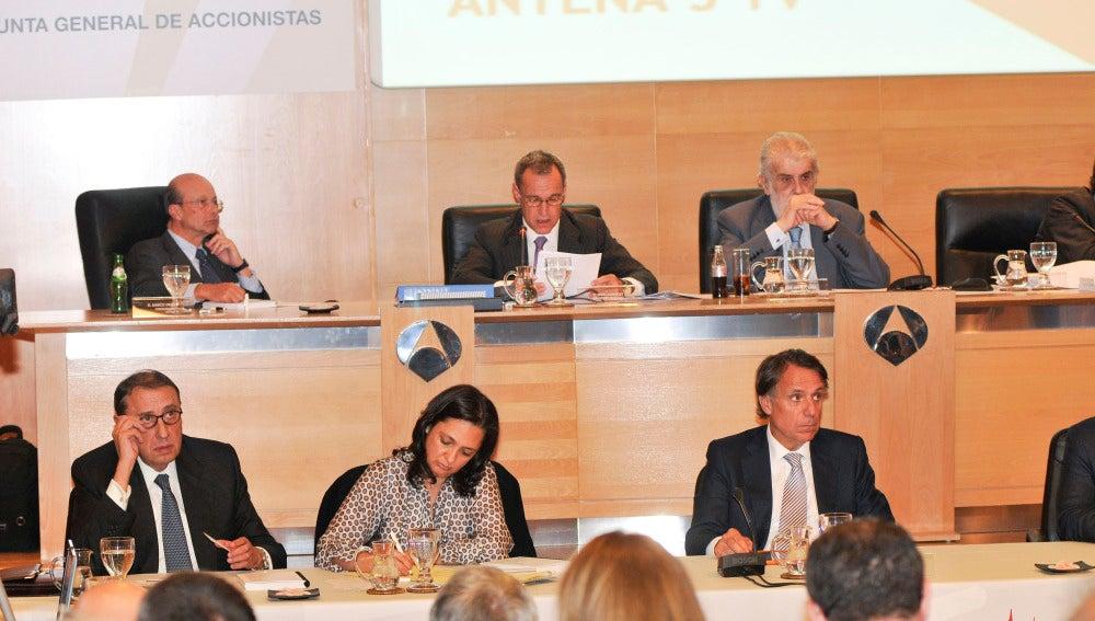 Momento de la Junta de Accionistas de Antena 3