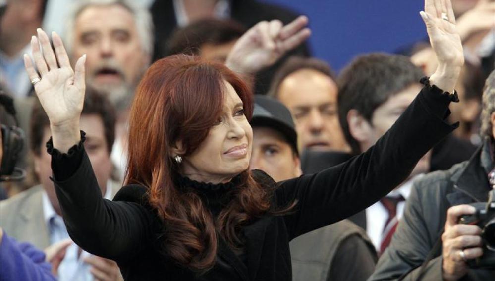 Cristina Fernández en un acto en Buenos Aires