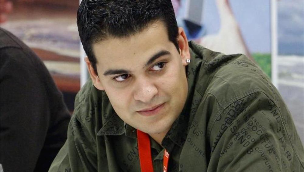 Nino Torre en el congreso de la organización juvenil del PSOE