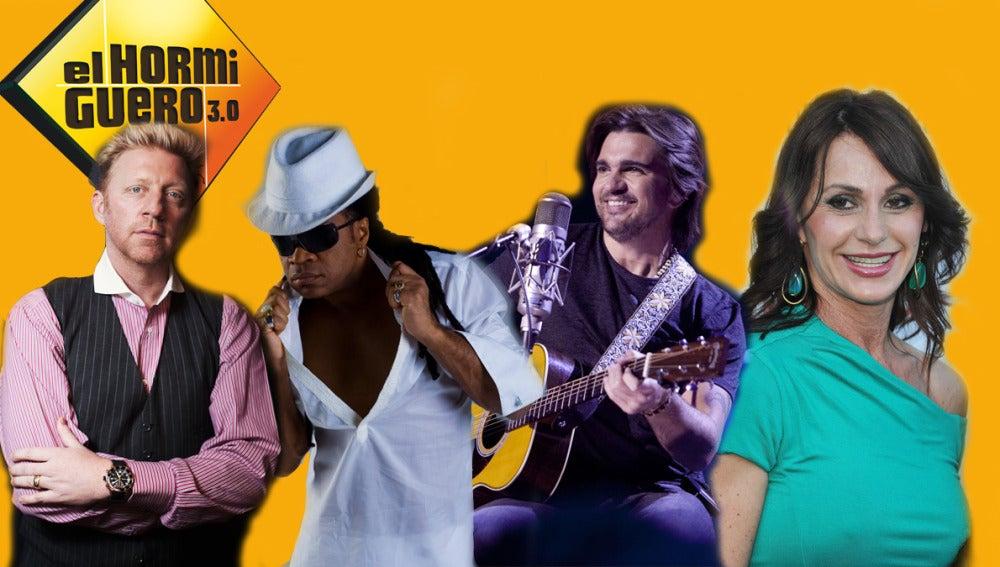 Boris Becker, Carlinhos Brown, Juanes y Nadia Comanecci, la próxima semana en El Hormiguero