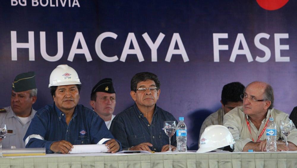 Evo Morales y Brufau