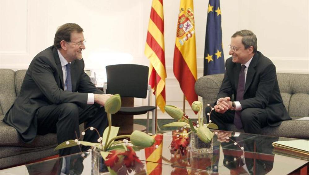 Mariano Rajoy se reúne con Mario Draghi
