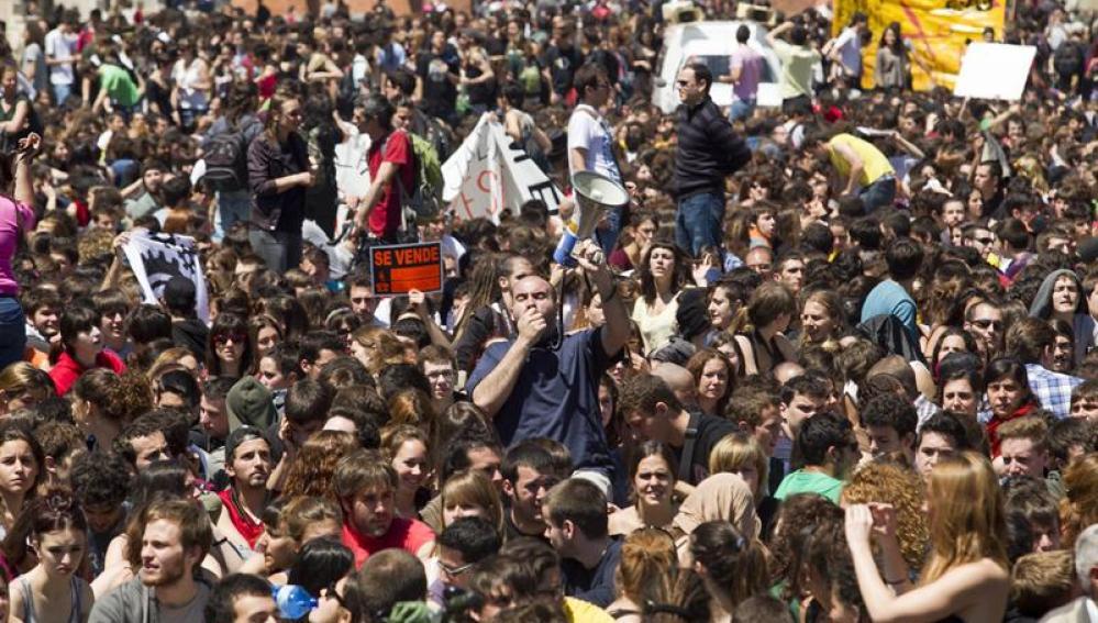 Manifestación en Barcelona contra la subida de tasas universitarias