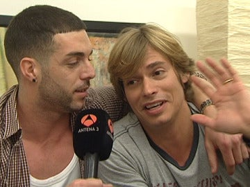 Carlos Baute junto al rapero Rasel