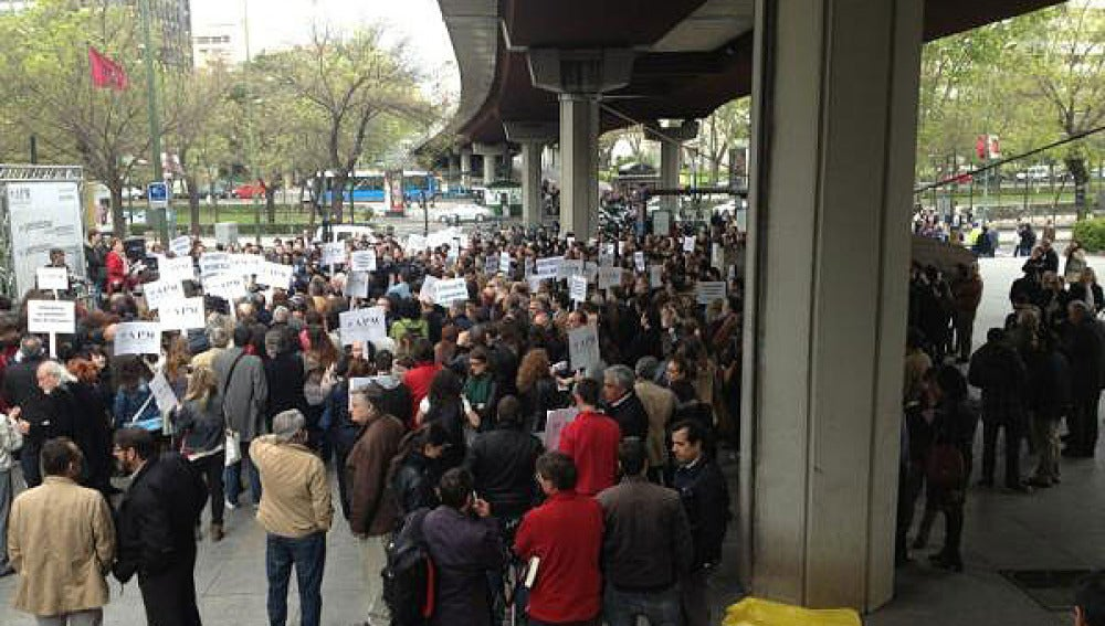 Concentración de periodistas en Madrid