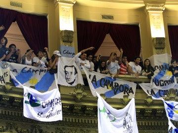 Público en el Parlamento argentino