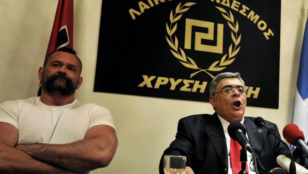 El líder del partido ultraderechista griego Amanecer Dorado, Nikos Michaloliakos