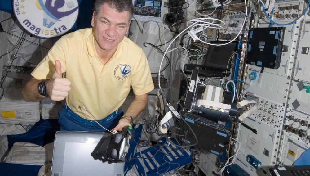 El astronauta Paolo Nespoli