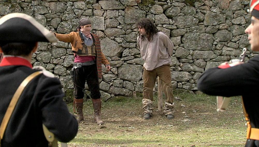 Los bandoleros salvan al Chato de ser fusilado