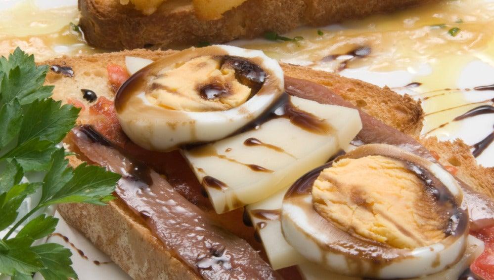 Tapas de queso manchego