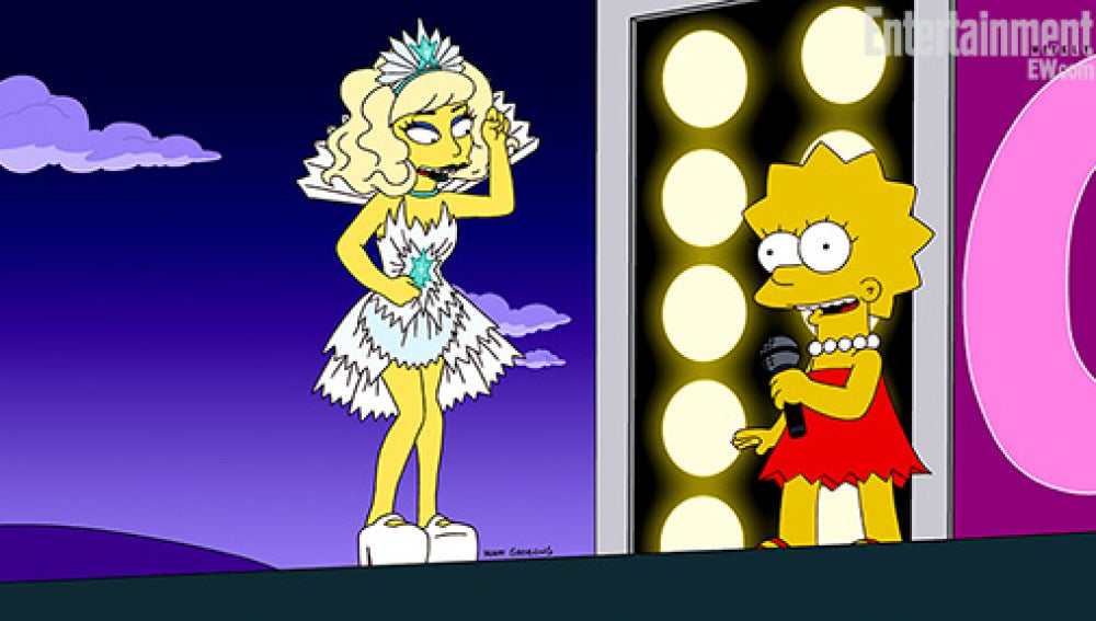 Lady Gaga y Lisa Simpson