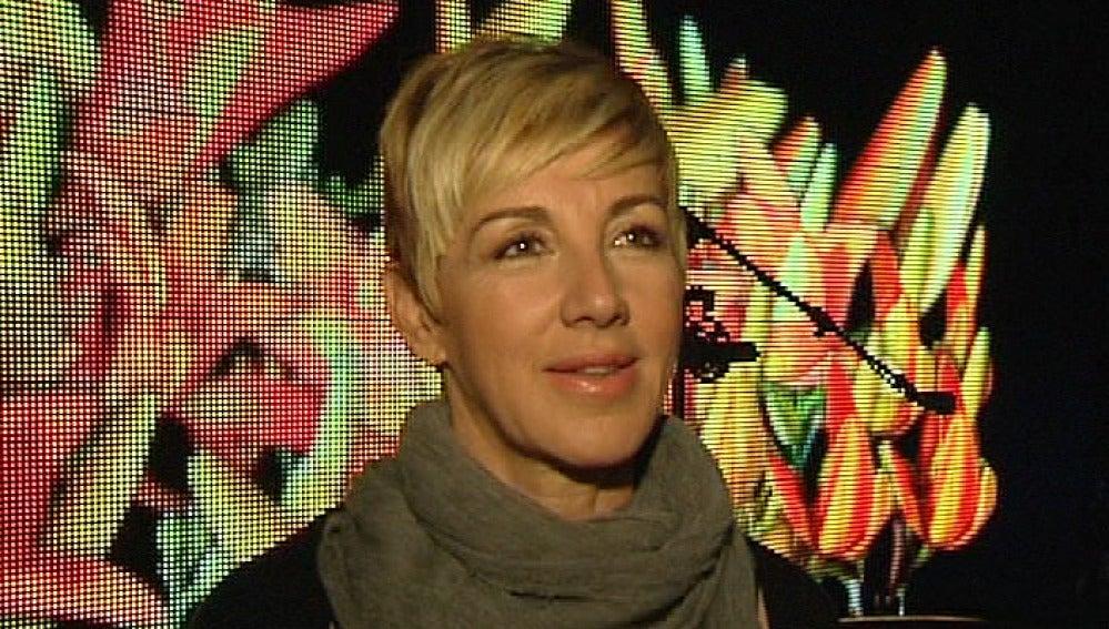 Ana Torroja durante la entrevista