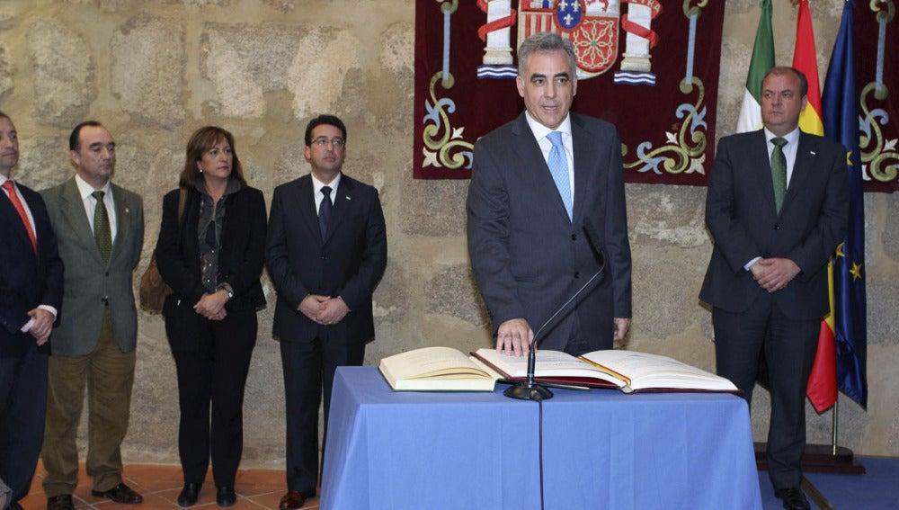 Francisco Javier Fernández Perianes, durante su toma posesión