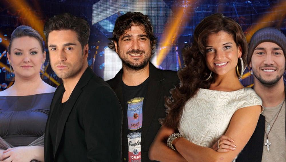 Dana Kozak, David Bustamante, Antonio Orozco, Natalia Jiménez y Jadel