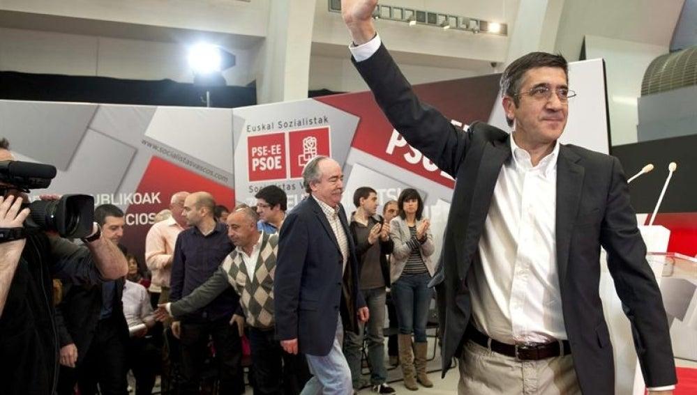 Patxi López en un acto en Bilbao