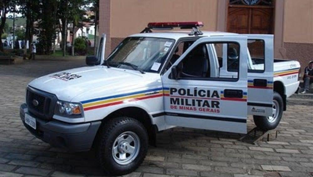 Coche de policía en Brasil