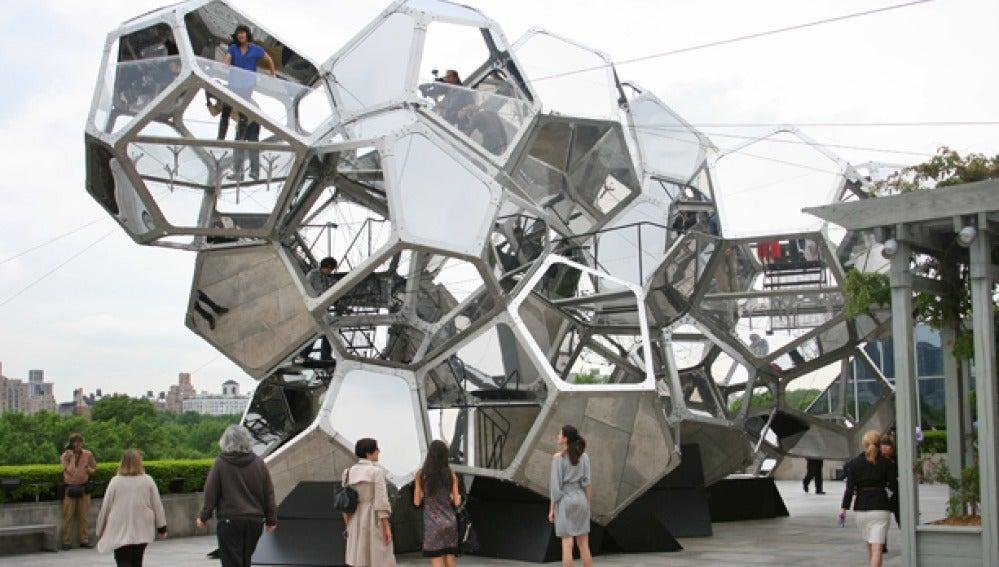 Ciudad de las nubes, en el ático de un museo de Nueva York