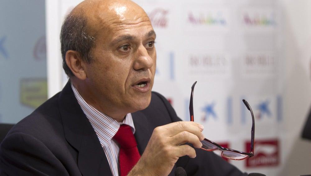 José María del Nido durante una rueda de prensa
