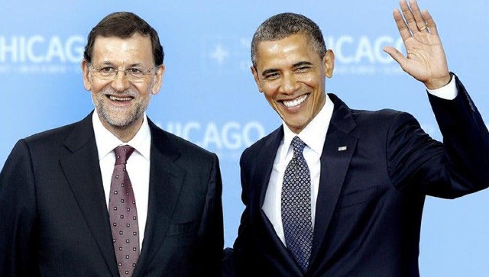Obama y Rajoy, en la cumbre de la OTAN en Chicago
