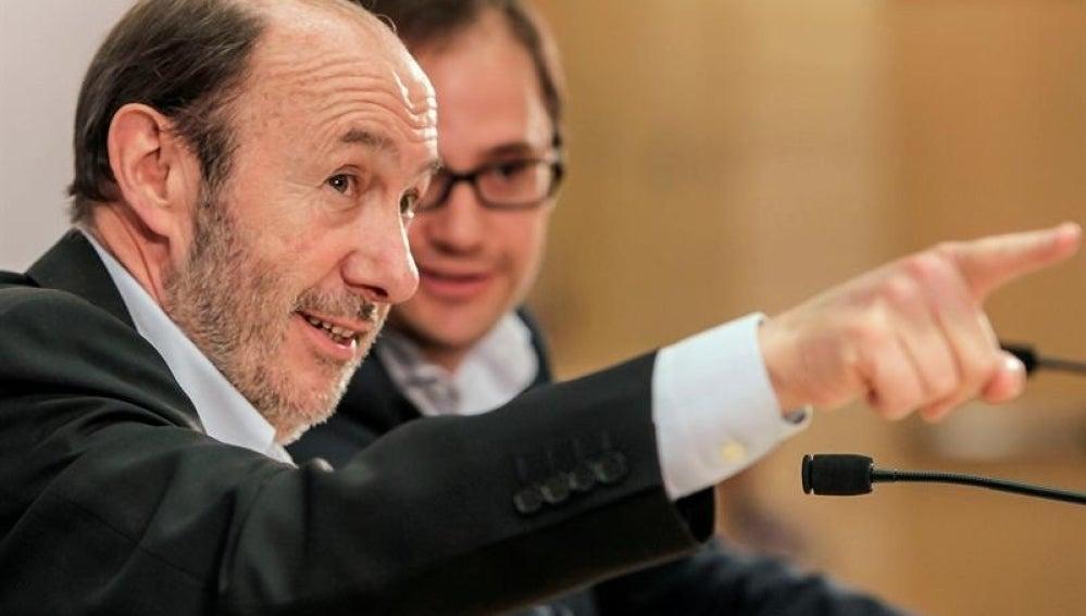 Alfredo Pérez Rubalcaba, secretario general del PSOE
