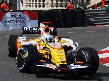 Alonso, con Renault en 2008