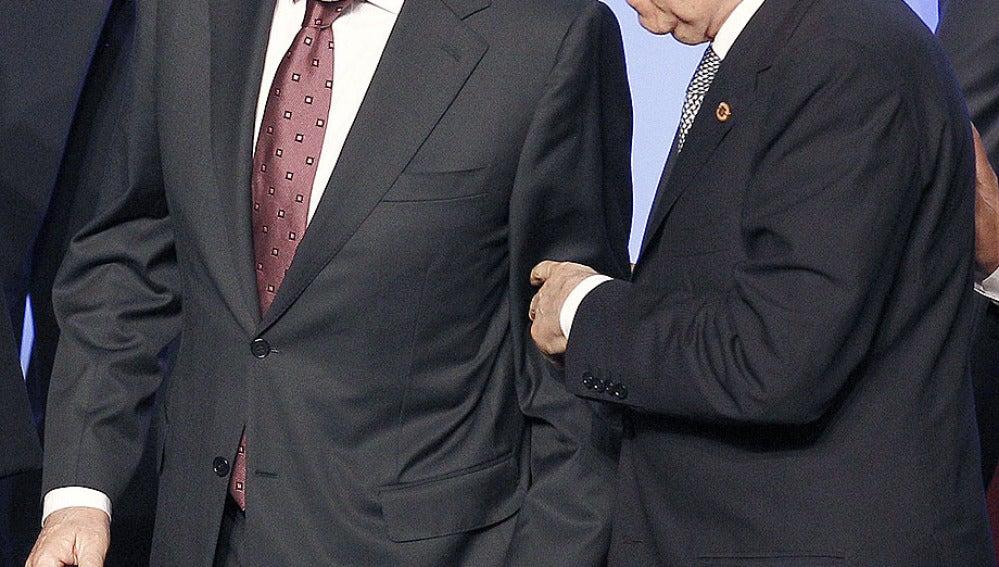 Mariano Rajoy junto a Mario Monti