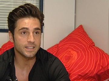 David Bustamante durante la entrevista