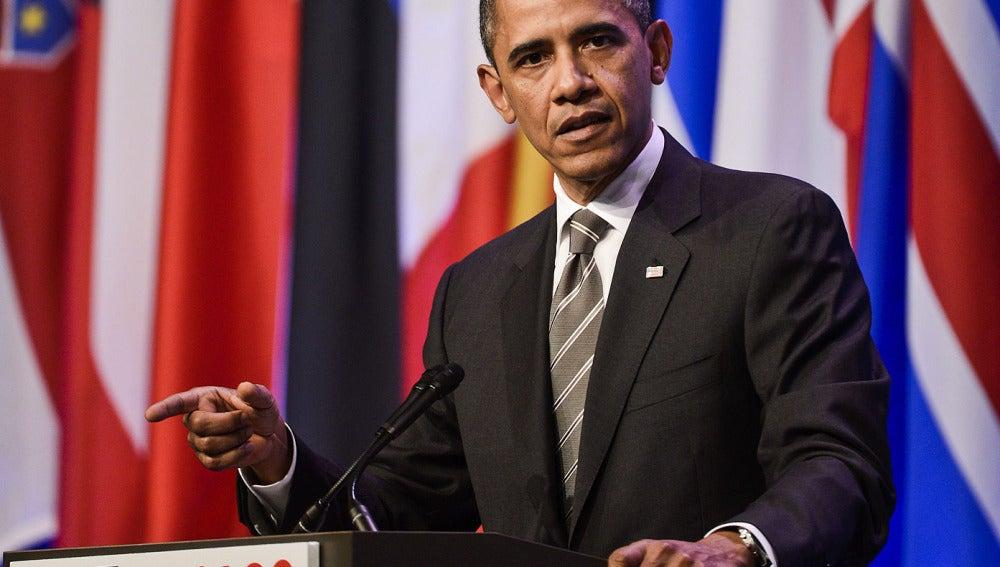 Barack Obama, durante la cumbre de la OTAN