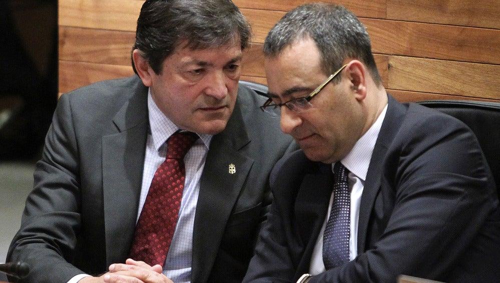 Javier Fernández y Fernando Lastra, del PSOE