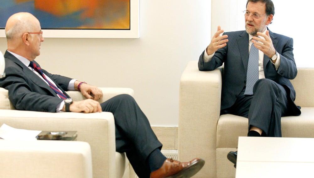 Josep Antoni Duran i Lleida junto a Mariano Rajoy