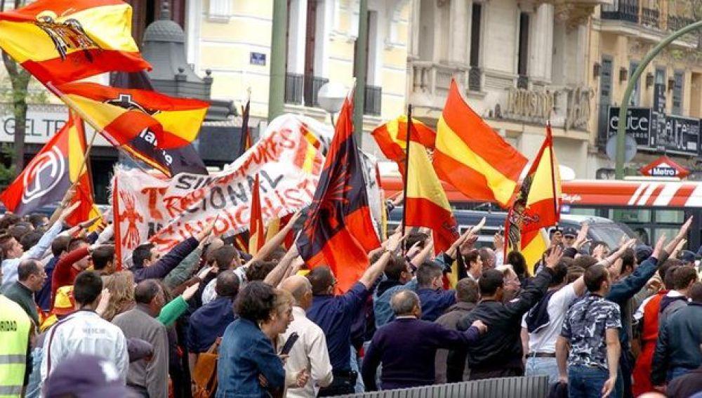 La manifestación de ultraderecha en Madrid