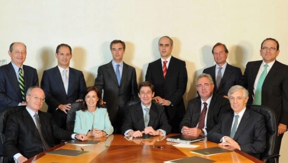 Foto de familia del consejo de administración de Bankia