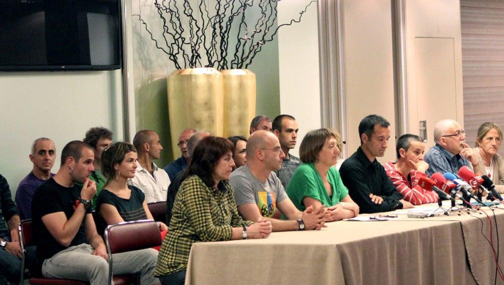 Un momento de la rueda de prensa en Bilbao