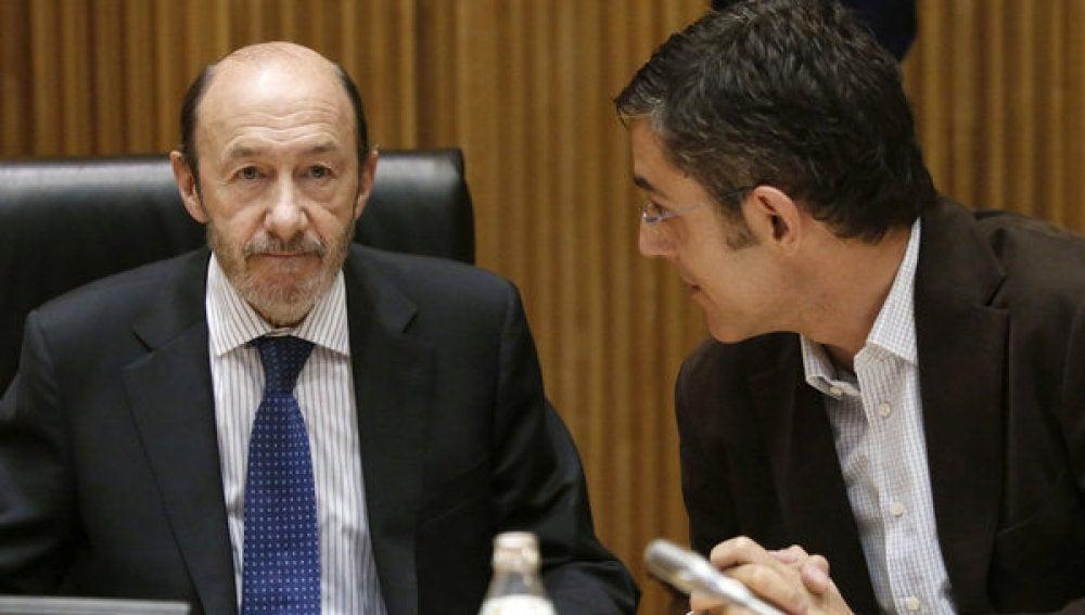 Pérez Rubalcaba y Eduardo Madina