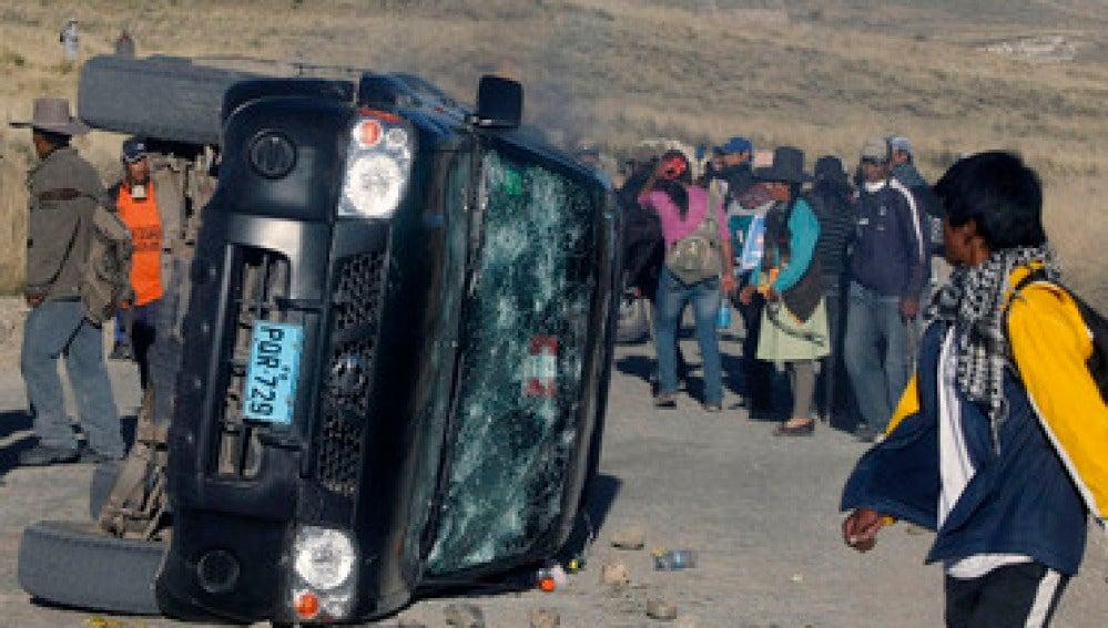 Protestas mineros en Perú