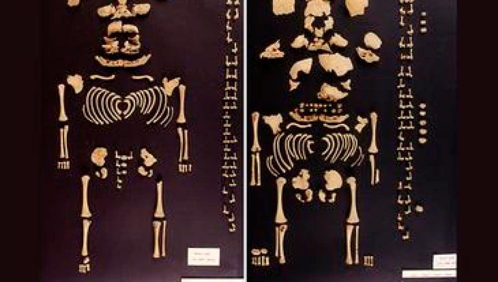 Restos de gemelas prehistóricas