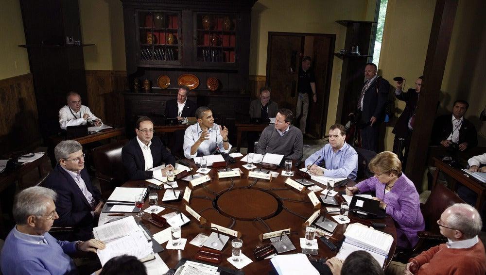 Obama, Merkel, Hollande y Monti abordan crisis europea y situación en Siria