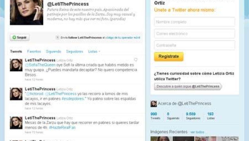 Twitter falso de la princesa Letizia