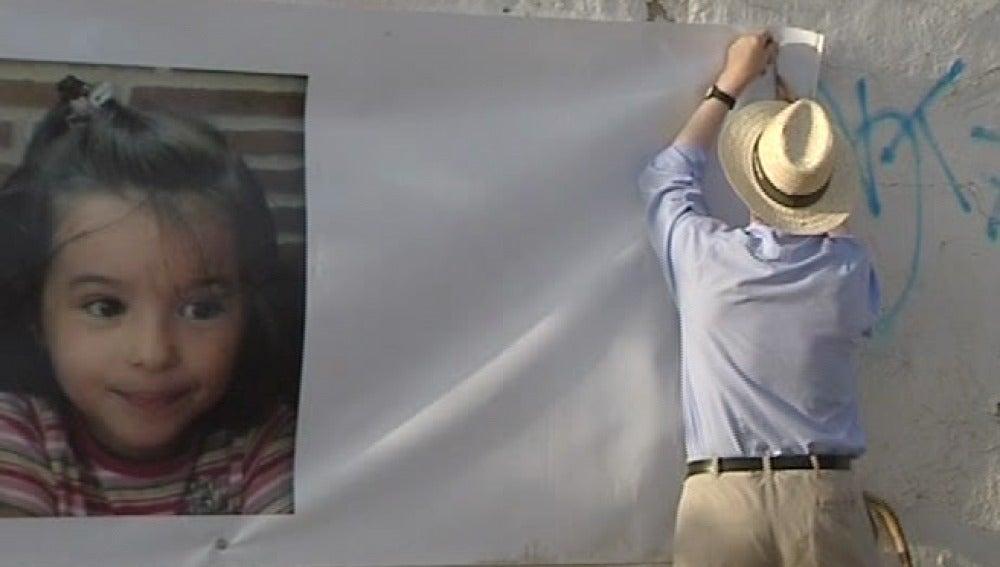 La pancarta contra José Bretón
