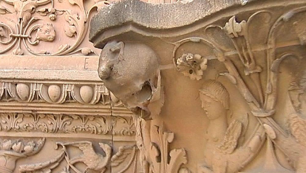 Rana de la fachada de la Universidad de Salamanca