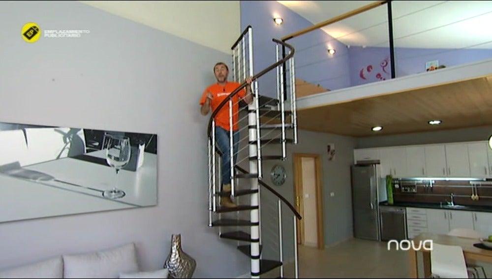 ¡I 'loft' una escalera de caracol!