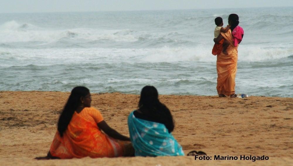 La playa de Varkala, en el estado indio de Kerala. Foto: Marino Holgado
