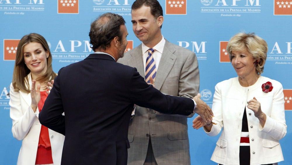 Doña Letizia y Don Felipe durante el acto