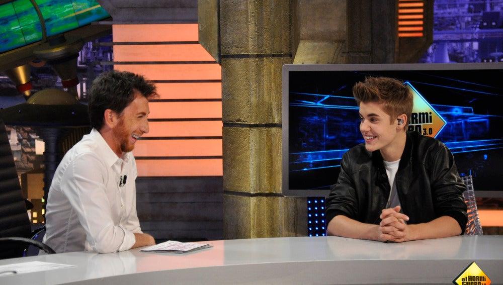 Pablo Motos y Justin Bieber