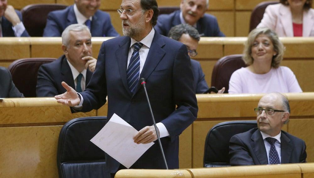 Mariano Rajoy en el Senado (Archivo)