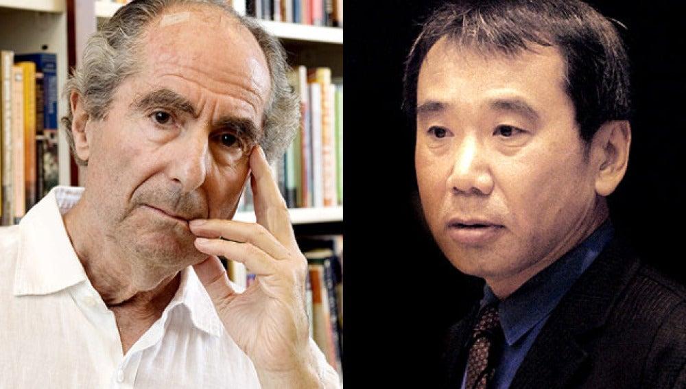 Philip Roth y Haruki Murakami