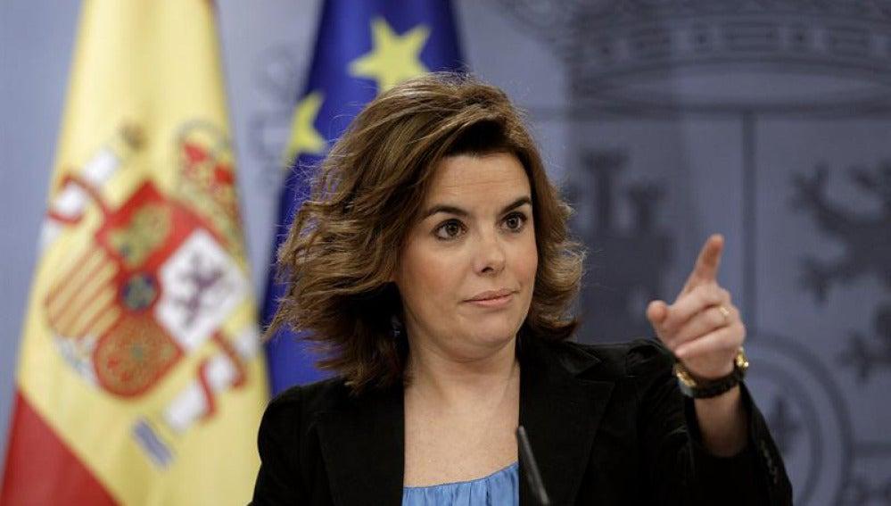 Soraya durante el Consejo de Ministros
