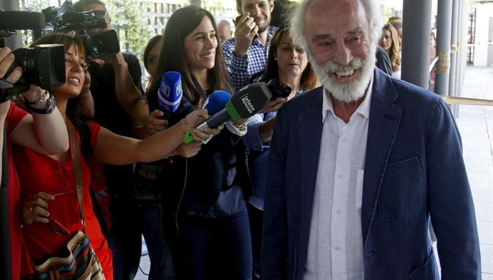 El cantautor Javier Krahe a su llegada el pasado 28 de mayo al juzgado