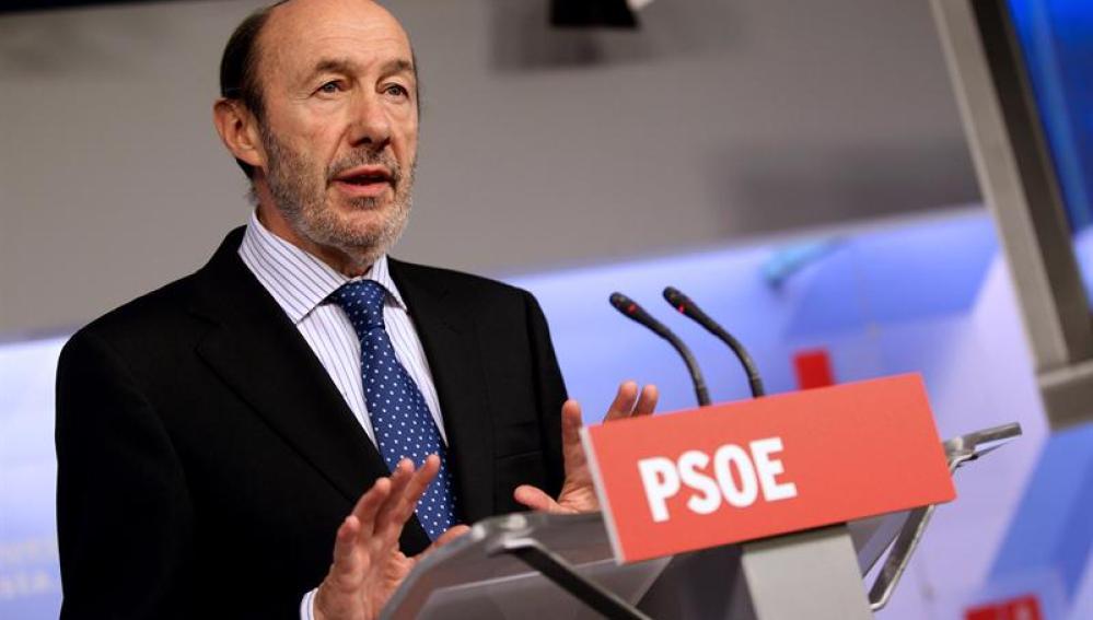 Comparecencia de Pérez Rubalcaba